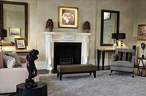Decorative paint & polished plaster finishes for walling and furniture in Eaton Square.