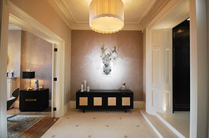 Belgravia - Feature walling in specialist paint & polished plaster finishes